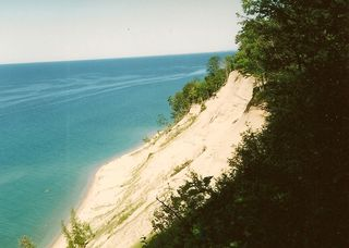 North Manito Island and Lake Michigan 1993