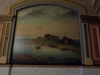 Fort Dearborn painting capital building