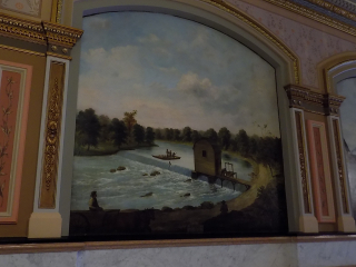 Mill at New Salem painting capital building