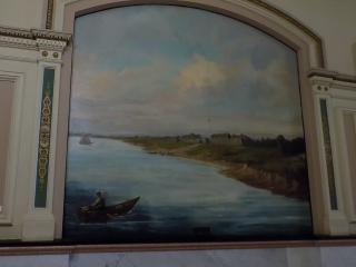 Fort Dechartes painting capital building