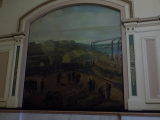 Cairo Civil War painting capital building
