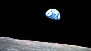 Earthrise 1968 from Apollo 8