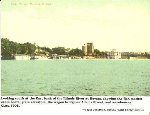 Havana, Illinois riverfront - 1908