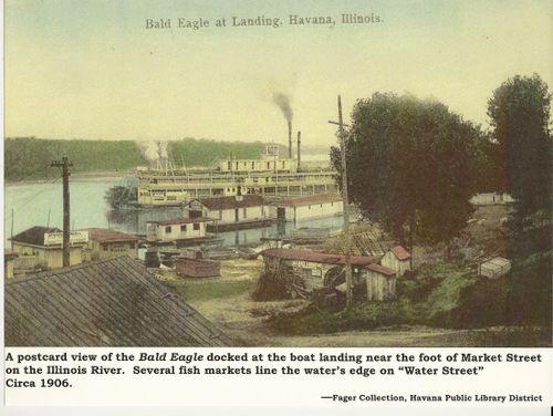 Reproduction of a postcard - Havana, Illinois - 1906